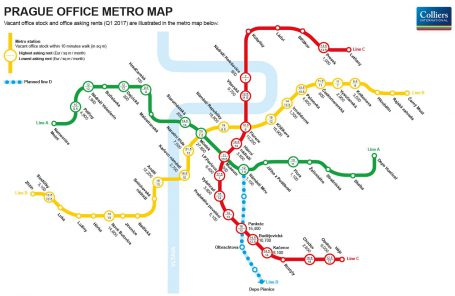 D Metro Map.Colliers International Releases The First Prague Office Metro Map